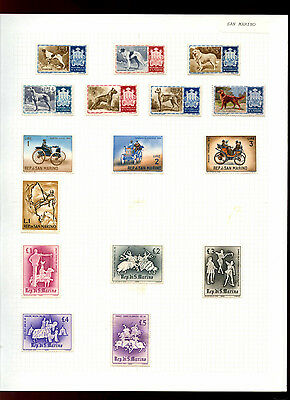 San Marino Album Page Of Stamps #V5056