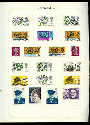 GB Album Page Of Stamps #V5183