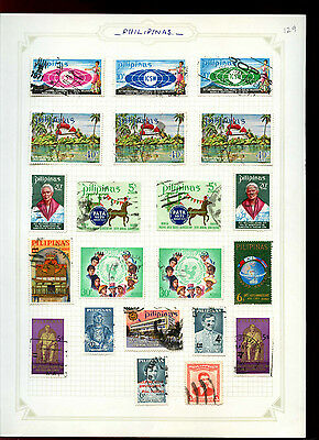 Phillippines Album Page Of Stamps #V5028