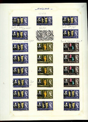 GB 1964 Shakespeare Festival Album Page Of Stamps #V5165