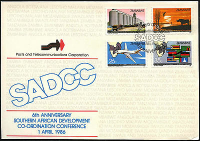 Zimbabwe 1986 Southern African Development Co-OP FDC First Day Cover #C42067