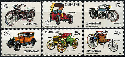Zimbabwe 1986 SG#700-5 Centenary Of Motoring MNH Set #D50855