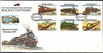Zimbabwe 1997 Railway Locomotives FDC First Day Cover #C42116