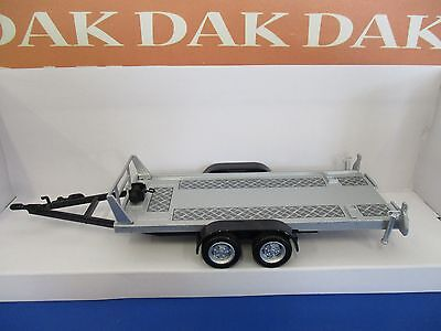 Die cast 1/43 Modellino Carrello Assistenza Trasporto Auto Trailer 2 Wheels