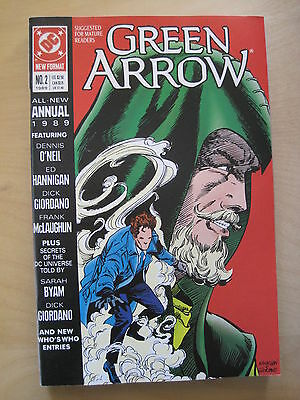 GREEN ARROW : ANNUAL # 2. SUGGESTED FOR MATURE READERS. 1st PRINT. DC.1989