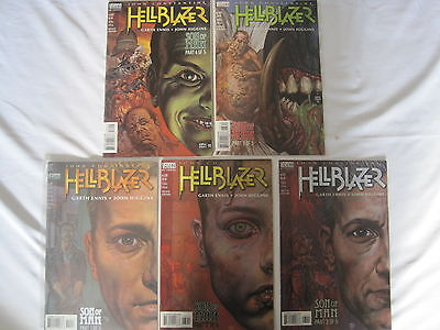 "HELLBLAZER ""SON of MAN"" :COMPLETE 5 ISSUE SET by GARTH ENNIS & JOHN HIGGINS.1998"