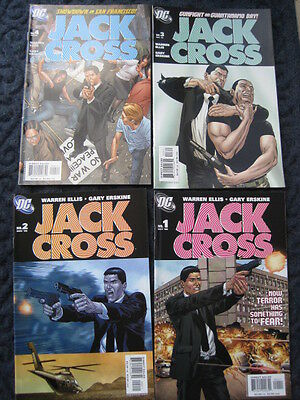 JACK CROSS - COMPLETE 4 PART SERIES by  WARREN ELLIS & GARY ERSKINE. DC. 2003
