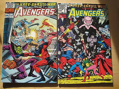 KREE-SKRULL WAR AVENGERS : 2 ISSUE SERIES by THOMAS,ADAMS & BUSCEMA. MARVEL.1983