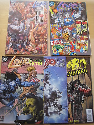 LOBO : BUNDLE of 5 ONE-SHOTS by GIFFEN, GRANT, O'NEILL, BISLEY etc.DC. 1990's
