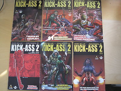KICK - ASS  2 : COMPLETE 7 ISSUE SERIES (except 3) by MILLAR,ROMITA JR.ICON.2011