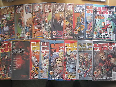 MAGNUS ROBOT FIGHTER : COMPLETE RUN #s 1 - 18 by PEYER et.VALIANT / ACCLAIM.1997