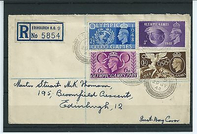 1848 Olympic Games -..registered First Day Cover - Edinburgh - Used
