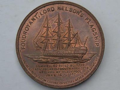 1897 Nelson Copper Medal Made from the Flagship Foudroyant EF with lustre 38mm
