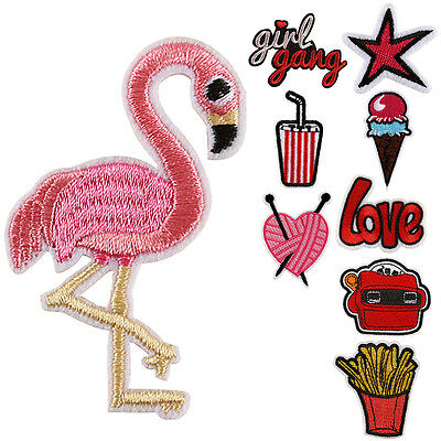 Embroidered iron on sew on applique patches badges for clothes jackets