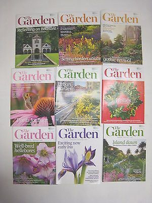 RHS The Garden Magazine  9 Issues May 2015 to March 2016. (Various Months)  VGC