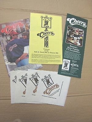 Cheers Tv Show--Memorabilia From The Boston Bar--  3 Booklets & 3 Drink Napkins.
