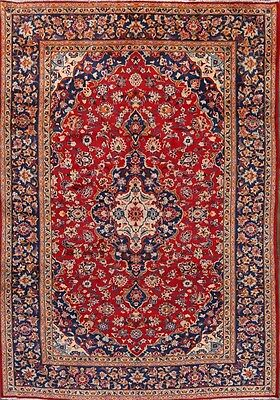 Great Condition Hand Knotted Traditional 8x11 Isfahan Persian Oriental Area Rug