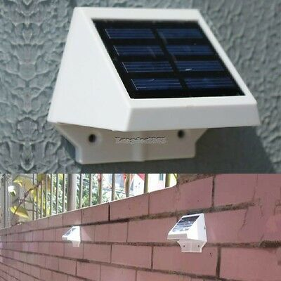 2017 Solar Power Powered 4 LED Garden Light Lamp Fence Outdoor Pathway Wall Yard
