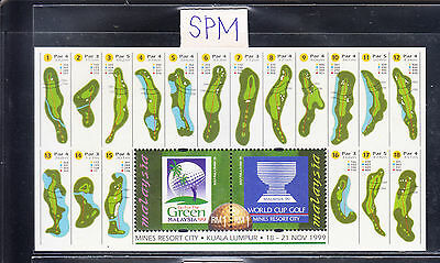 MALAYSIA 1999 WORLD CUP GOLF MS MNH. SCARCE. BUY-IT-NOW at US$18.50