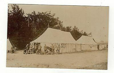 Wiltshire . Windmill Hill Camp Y.m.c.a.tents Old R.p  Postcard