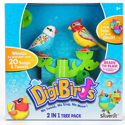 Silverlit - DIGIBIRDS 2 in 1 TREE PACK Collection 3 - NATALIE & RYAN