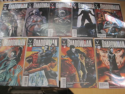 SHADOWMAN : BUNDLE of #s 0,2,3,4,7,8,9,10,14, (9 TOTAL). VALIANT. 2013 SERIES