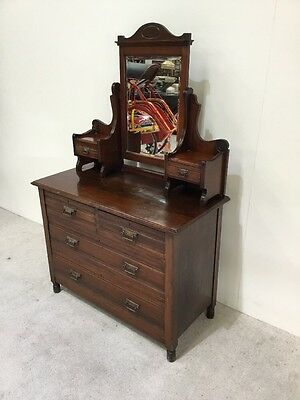 Antique Victorian Dressing Table Ladies Dressing Table Walnut Mahogany