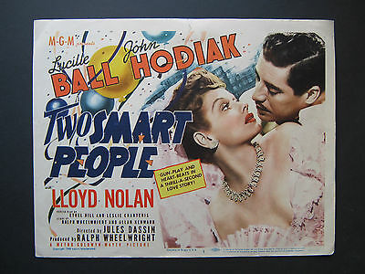Two Smart People '46 Lucille Ball John Hodiak Great Artwork Mgm Title Card