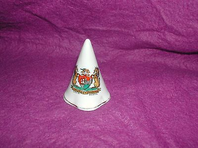 Goss Crested China Cone Candle Snuffer. City Of Bristol.