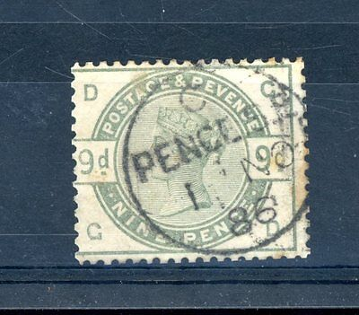 Great Britain 1883  9d Dull Green  (SG 195)  very fine used  (Jy156)