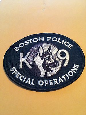 NEW STYLE Boston Police K-9 Patch Canine subdued