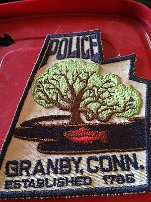 older Granby Connecticut Police patch town shape