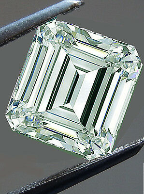 0.78 ct SI3/WHITE ICE BLUE COLOR LOOSE EMERALD REAL MOISSANITE  4 RING/PENDANT