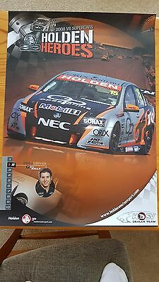 Rick Kelly Holden Heroes Poster  2008 Commodore V8 Supercars