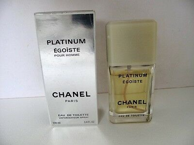 Mens CHANEL Paris Platinum Egoiste Pour Homme Eau De Toilette 100ml -Used 5-10ml