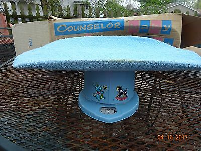Vintage 1950's  Counselor Blue Baby Scale