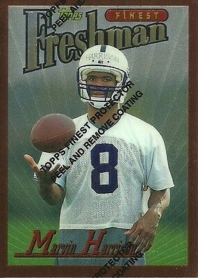 1996 Topps Finest NFL No. 243 Marvin Harrison RC