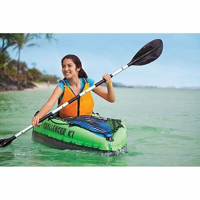 Intex K1 Challenger 1 Man Person Inflatable Kayak Canoe Oars Pump Dinghy Boat