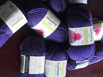CLECKHEATON COUNTRY 10PLY ARAN wool purple, 9 balls of 50 grams