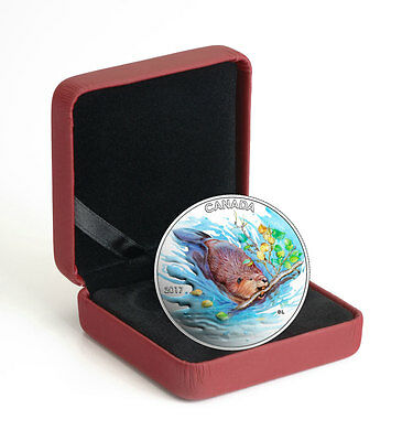2017 Canada Iconic - The Beaver 1/2 oz. Silver Colorized Proof $10 OGP SKU47925