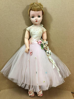 "20"" Vintage Madame Alexander Cissy Doll In Tagged Pink Ballet Gown 2025"