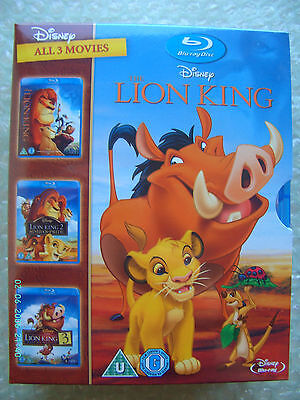 The Lion King Trilogy  -  (BLU-RAY  3-Disc Set, Box Set)  New and Sealed