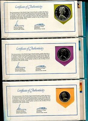 British Virgin Islands 6 Coin Proof First Day Cover Set With Folder 399J