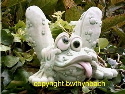 New Rubber Latex Mould Moulds Mold To Make Garden Concrete Crazy Mad Frog