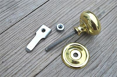 A Quality English Made Brass Cupboard Cabinet Turn Knob Latch Door Latch Cb15