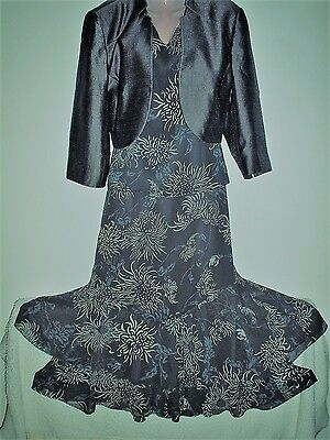 Stunning Jacques Vert Outfit Tiered Floaty Skirt, Top & Bolero Jacket 18/20 *