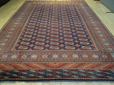 """Very Large Bokhara persian design CARPET RUG HAND MADE WOOL  11ft 2"""" x 8ft 5"""""""