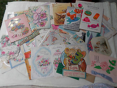 HUGE LOT 175 Vintage GREETING CARDS used BABY Birthday Get Well Christmas Mixed