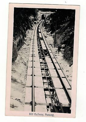 Malayasia.hill Railway,penang. Old R.p. Postcard. By Federal Rubber Stamp.co
