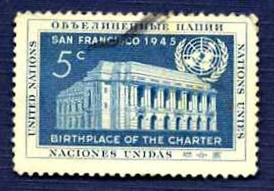 United Nations 1952-#12-Seventh Anniversary-Birthplace of UN Charter-USED